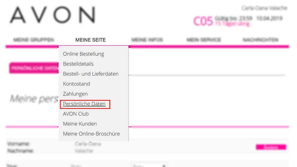 actualizare date REPREZENTANTE AVON GERMANIA