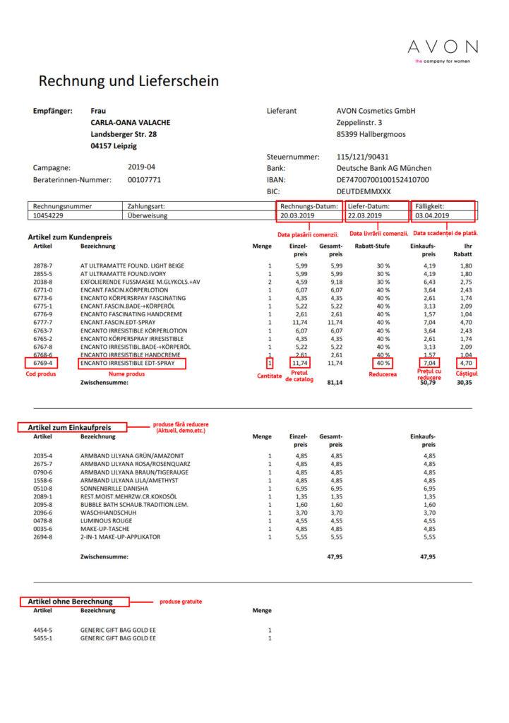 intrepretare factura - pagina 1