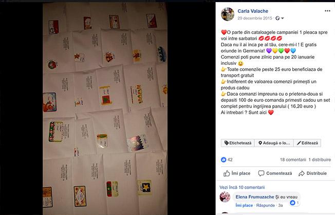 postari facebook - carla valache - reprezentant avon germania 2