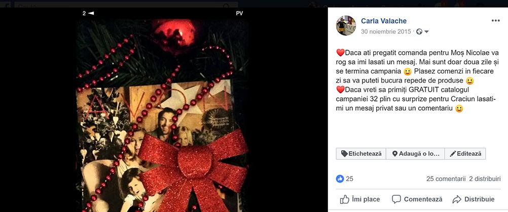 postari facebook - carla valache - reprezentant avon germania